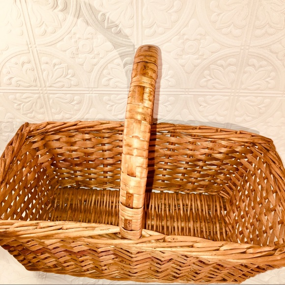 Vintage Wicker Basket with Handle